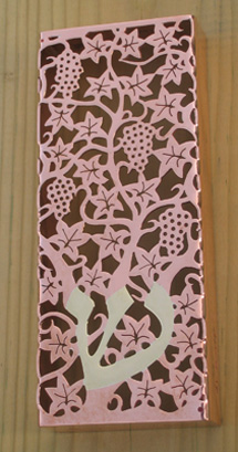 Copper vine Mezuzah